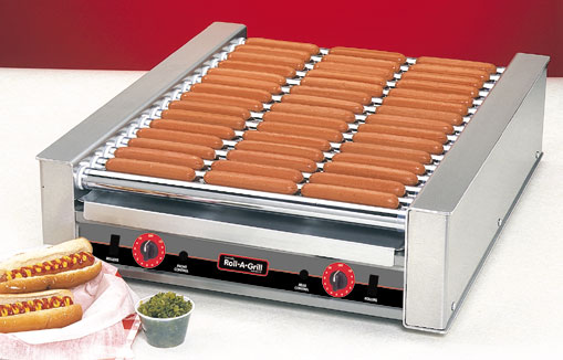 Hot Dog Grill, Narrow, 45 Dogs w/Silverstone