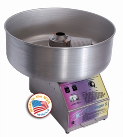 Cotton Candy Machine Spin Magic 5 w/ Metal Bowl