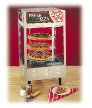 "Pizza Rotating Display Pass Thru Self Serve Three 18"" Racks"