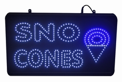 Sno-Cone LED Lighted Sign